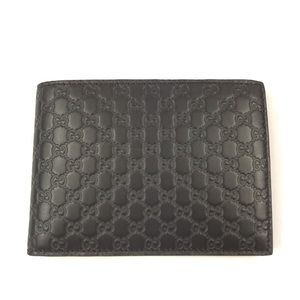 Gucci #292534 Brown Micro-GG Leather Wallet
